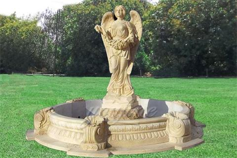 Garden Sale Statue Marble Angel Water Fountain With Shells