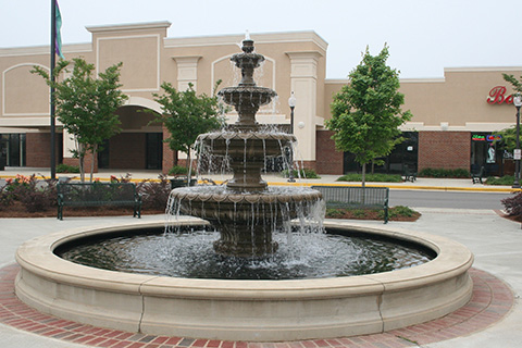 Outdoor Garden Tiered granite fountain with Basin