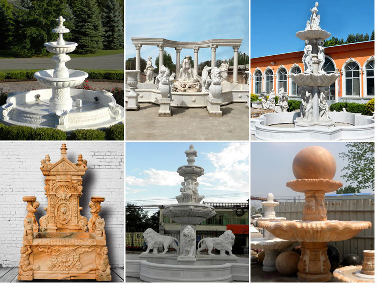 modern water fountains